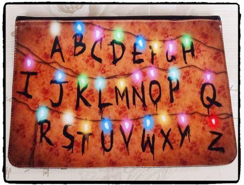 Stranger Things, Alphabet Lights, Inspired Exclusive Messenger Bag Flap