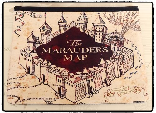 Harry Potter, Marauder's Map Inspired Exclusive Messenger Bag Flap