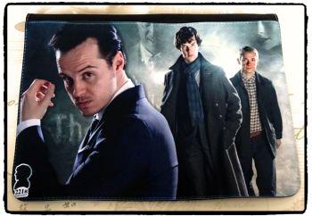 Sherlock, Sherlocked, Moriarty, Dr Watson Inspired Exclusive Messenger Bag Flap