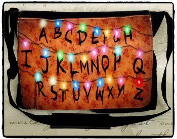 Exclusive: Stranger Things, Alphabet Lights, Inspired Shoulder Messenger Bag