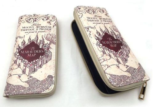 Harry Potter, Marauders Map Inspired Long Purse Wallet