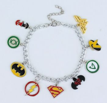 Justice League Inspired Charm Bracelet