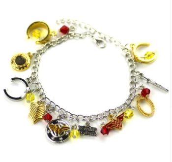 Wonder Woman, Justice League, DC Comics, Super Hero Inspired Style Charm Bracelet