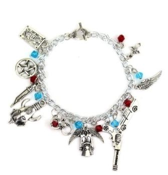Supernatural, Sam, Dean, Castiel, Winchester Brothers Inspired Style Charm Bracelet