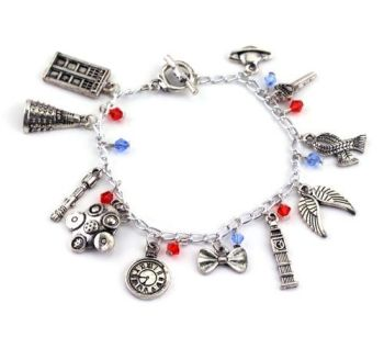 Doctor Who Inspired Charm Bracelet
