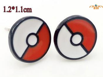 Anime Pokeball Studs