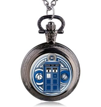 Doctor Who Tardis Pendant Pocket Watch