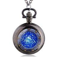 Stargate Portal Inspired Pendant Pocket Watch