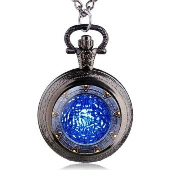 Stargate Portal Inspired Pendant Pocket Watch