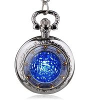 Stargate Portal Inspired Silver Tone Pendant Pocket Watch