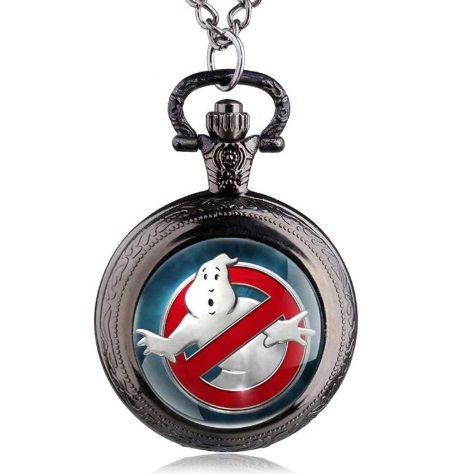 Ghostbusters Inspired Pendant Pocket Watch
