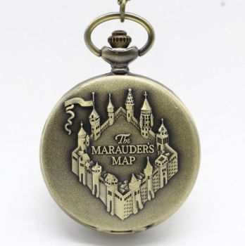 Harry Potter, Marauders Map Inspired Pendant Pocket Watch