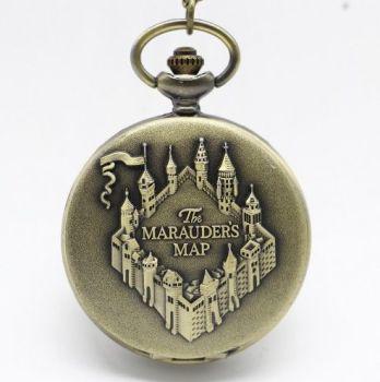 Harry Potter, Marauders Map Inspired Pendant Pocket Watch