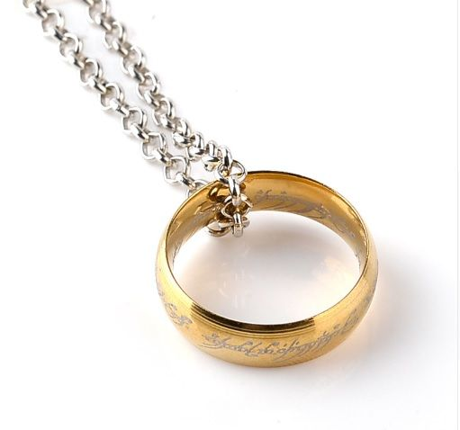 Lord of the Rings Hobbit Ring Pendant Necklace