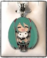 Hatsune Miku, Volcaloid, Anime Inspired Pendant Necklace