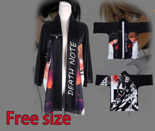 Death Note Anime Cosplay Haori/ Japanese Kimino Jacket