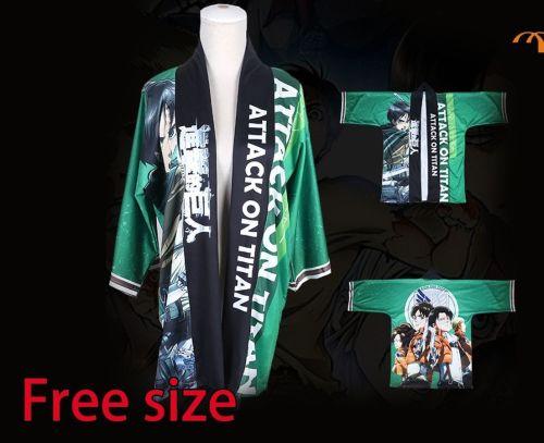 Attack on Titan Anime Cosplay Haori/ Japanese Kimino Jacket
