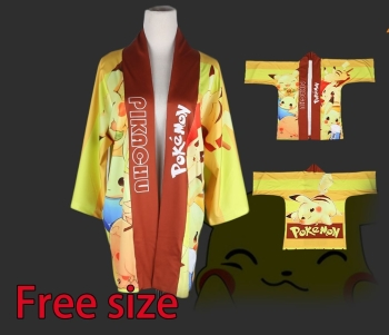 Kimono Style Jacket Pikachu