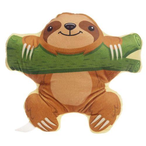 Sloth on Branch, Kawaii Plush Cushion