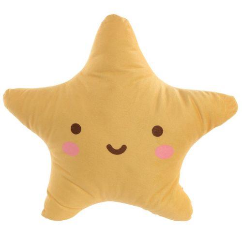 Kawaii Star Plush Cushion