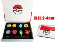 Pokemon Kanto Gym Inspired Pin Badge Collection