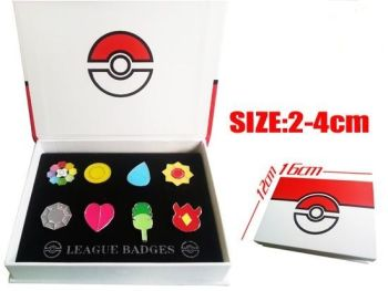 Pokemon Gym Badges, Indigo League Kanto Gym Badge Collection