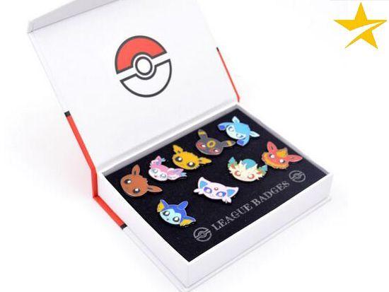 Pokemon Eevee Evolutions, Anime Pin Badge Collection