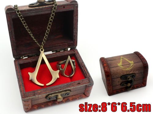 Assassin's Creed Game, Assassins Insignia Pendant & Ring Jewellery Set