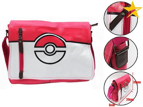 Pokemon, Pokeball, Anime, Game Messenger Shoulder Bag
