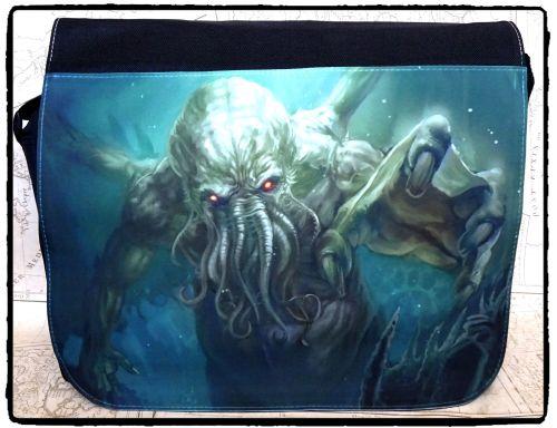 Exclusive: Steampunk, Cthulhu, Octopus, Fantasy, Shoulder Bag, Messenger