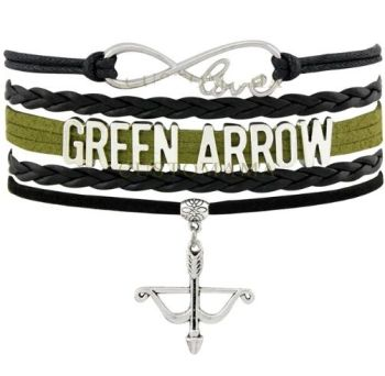 Green Arrow Infinity Bracelet