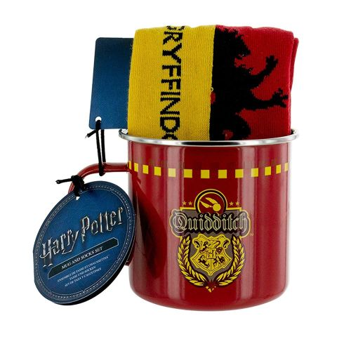 Gryffindor Quidditch Tin Mug & Socks Set