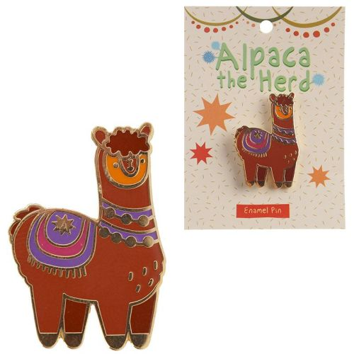 Enamel Alpaca Pin Badge
