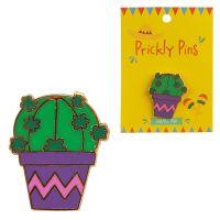 Enamel Cactus Pin Badge
