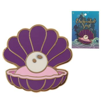 Enamel Clam Shell Pin Badge