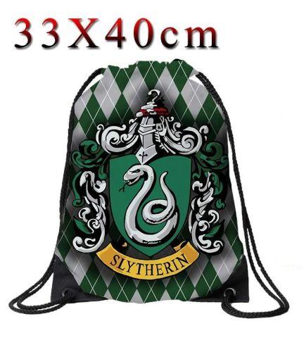 Harry Potter Slytherin Drawstring Cinche Bag