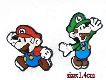 Mario and Luigi Earring Studs