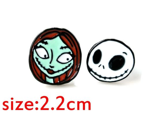 The Nightmare Before Christmas, Jack Skellington and Sally Earring Studs
