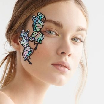 Face Lace Iridisa Butterfly by Phyllis Cohen