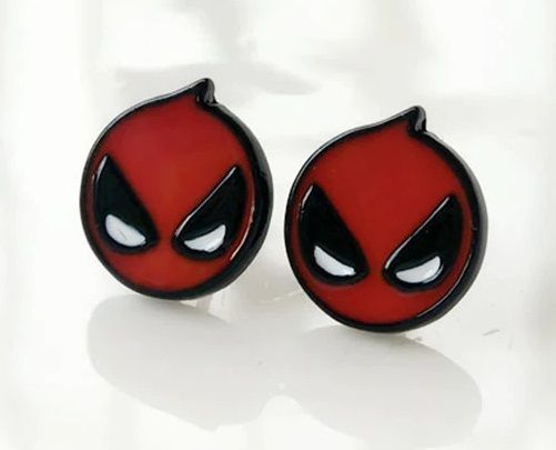 Deadpool, Superhero Earring Studs