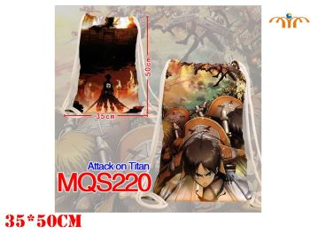 Anime - Attack on Titan inspired Drawstring Bag
