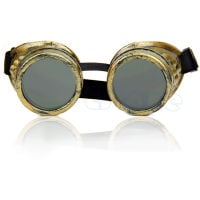 Brass Antique Gold Steampunk Victorian Welding Goggles