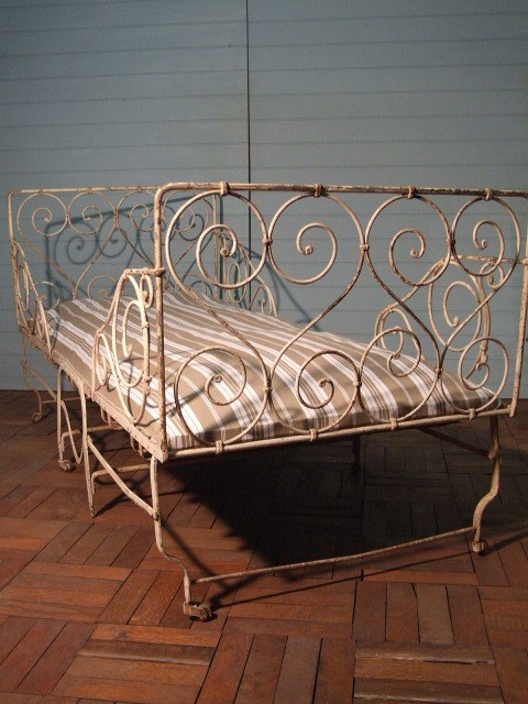 french recovered iron bed main