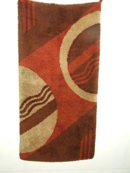 Art Deco handmade Modernist wool rug