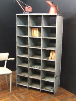 Old industrial bookcase