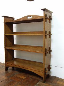 arts & crafts pegged bookcase