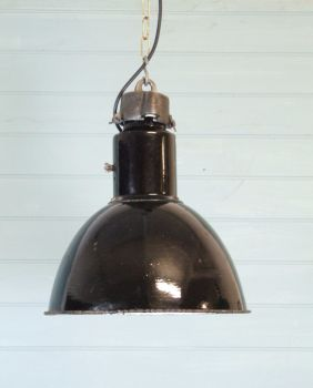 INDUSTRIAL BLACK ENAMEL LIGHT