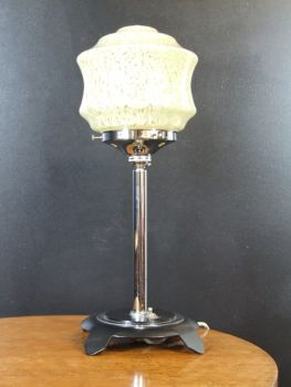 art deco chrome black table lamp