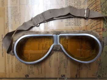 1930s Fur Lined Goggles