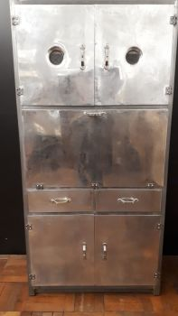 1940s aluminium kitchen cabinet